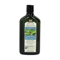 Avalon Organics Strengthening Shampoo  Pepppermint - 11 oz