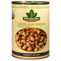 Bioitalia Organic black eyed peas - 14 oz