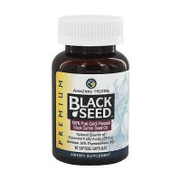 Amazing Herbs Black Seed Pure Cold Pressed Oil Softgels - 90 ea