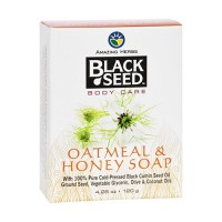 Amazing herbs black seed body care soap, oatmeal and honey  -  4.25 oz