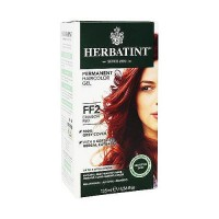 Herbatint Flash Fashion permanent herbal hair color gel #FF2 Crimson Red - 4.56 oz