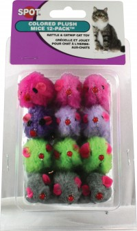 Ethical Cat plush mice - 12 pack, 6 ea