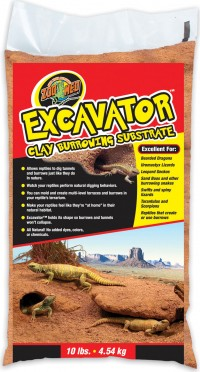 Zoo Med Laboratories Inc excavator clay burrowing substrate - 10 pound, 3 ea