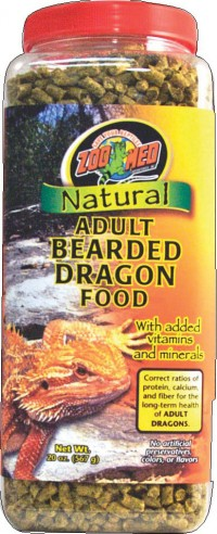 Zoo Med Laboratories Inc natural adult bearded dragon food - 20 ounce, 24 ea