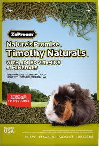 Zupreem nature's promise timothy naturals guinea pig food - 5 pound, 6 ea