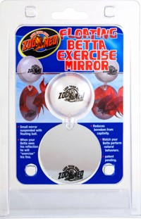 Zoo Med Laboratories Inc floating betta exercise mirror - 2 ounce, 144 ea
