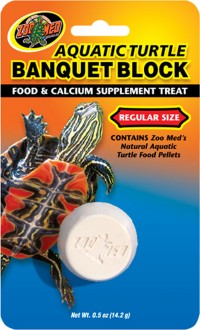 Zoo Med Laboratories Inc aquatic turtle banquet block - regular/5 pack, 48 ea