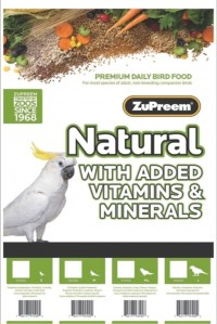 Zupreem natural with added vitamins & minerals lg parrot - 20 pound, 1 ea