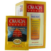 Ola Loa Energy Multivitamin Effervescent Drink Mix Packets, Orange - 30 ea