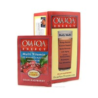 Ola Loa energy multi vitamin effervescent drink mix, Cran-Raspberry - 30 pack