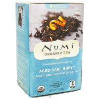 Numi Organic Black Tea, Aged Earl Grey - 18 Tea Bags