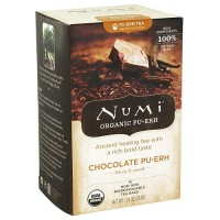 Numi Organic Full Leaf Black Tea, Chocolate Puerh - 16 Bags, 6 pack