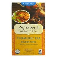 Numi organic turmeric tea golden tonic  -  12 Tea Bags  ,6 pack