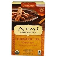 Numi organic turmeric tea amber sun  -  12 Tea Bags ,6 pack