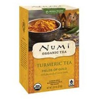 Numi organic turmeric tea fields of gold  -  12 Tea Bags ,6 pack