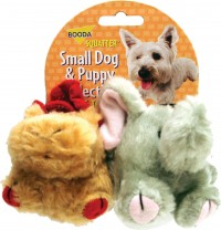 Booda Products squatter moose & elephant dog toy - 2 pk, 30 ea