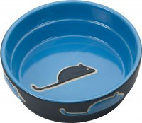 Ethical Stoneware Dish fresco cat dish - 5 inch, 36 ea