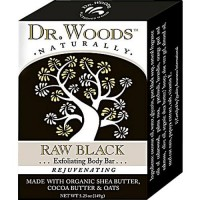Dr. Woods naturally bar soap raw black - 5.25 oz
