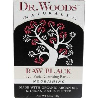Dr. Woods raw black facial cleansing bar - 5.25 oz
