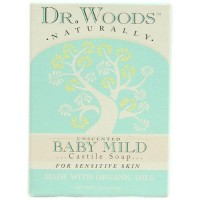 Dr. Woods naturally bar soap baby mild unscented - 5.25 oz