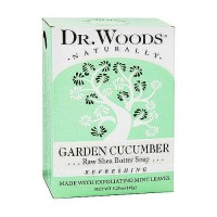 Dr. Woods 100% Natural Raw Shea Butter Bar Soap, Garden Cucumber - 5.25 oz