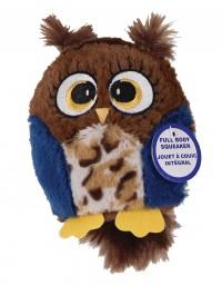 Ethical Dog hoots owl plush squeaker dog toy - 4.75 inch, 48 ea