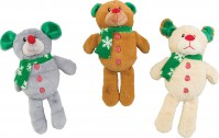 Ethical Christmas holiday bear/dog/moose assortment - 11 inch, 48 ea