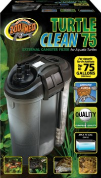 Zoo Med Laboratories Inc turtle clean external canister filter - up to 75 gallon, 2 ea
