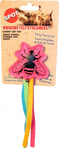 Ethical Cat whiskins felt insect/streamers catnip - 7 in, 48 ea
