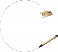 Ethical Cat cat prancer linen teaser wand - 36 inch, 48 ea