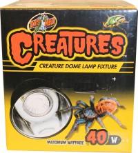 Zoo Med Laboratories Inc creatures dome lamp fixture - 40 watts, 12 ea
