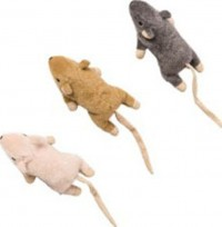 Ethical Cat flat mouse w/catnip cat toy - 5.5in, 48 ea