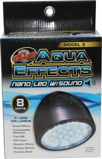 Zoo Med Laboratories Inc aquaeffects model 2 nano led light with sound - nano 8w, 6 ea
