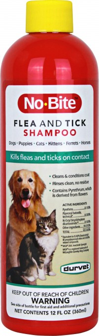 Durvet - Flea And Tick D no-bite flea & tick shampoo - 12 oz, 12 ea
