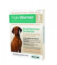 Durvet - Pet D triple wormer broad spectrum de-wormer - 2 ct/over 25 lb, 12 ea