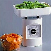 Food scale with removable portion tray - 1 ea