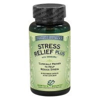 Earths bounty stress relief plus with sansoril, vegetarian capsules  -  60 ea