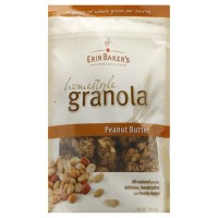 Erin Bakers granola homestyle peanut butter - 12 oz, 6 pack