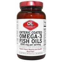 Olympian Labs enteric coated omega-3 fish oils softgels - 120 ea