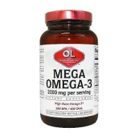 Olympian Labs mega omega-3 fish oils 2000mg softgels - 120 ea