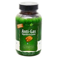 Irwin naturals anti gas digestive enzymes  softgels - 45 ea
