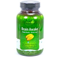 Irwin naturals brain awake liquid soft gels - 60 ea