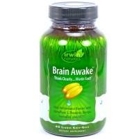 Irwin naturals brain awake liquid soft gels - 60 ea