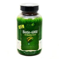 Irwin naturals biotin-6000 with bamboo extract vitamins - 60 ea