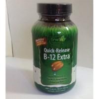 Irwin naturals new quick release b12 extra, irwin naturals - 60 ea