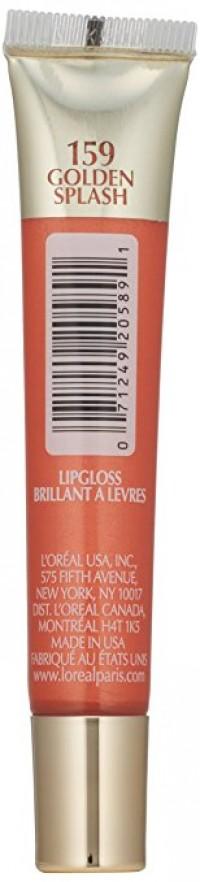 Loreal paris colour riche lip gloss, gold splash - 2 ea, 2 pack