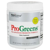 Nutricology ProGreens powder drink mix with advanced probiotic formula - 9.27 oz