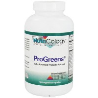 Nutricology Progreens with advanced probiotic formula capsules, 180 ea