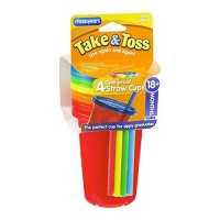 The first years take & toss spill-proof straw cups - 2 ea