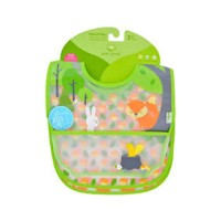 Green sprouts bib  waterproof 9 to 18 months forest  assorted - 1 ea